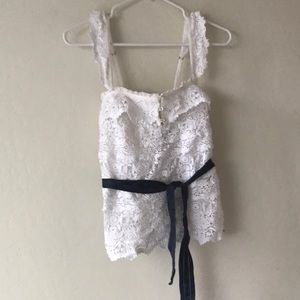 NWT white lace top